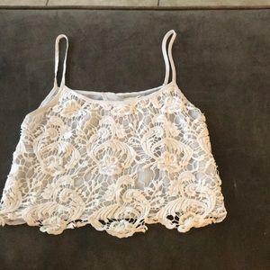 Sheer lace tank❄️